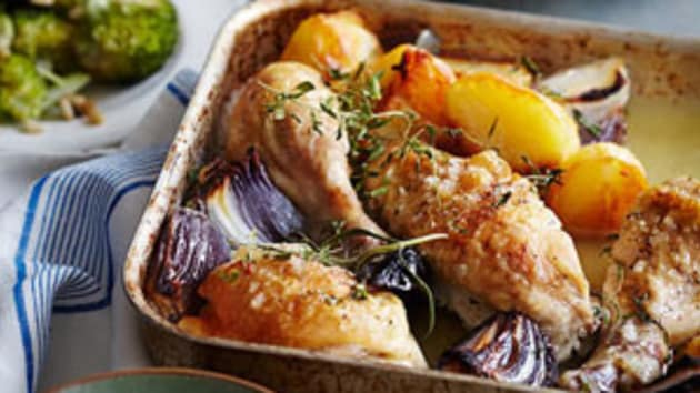 Roast Chicken Pieces With A Lemon And Herb Aioli Good Food Channel