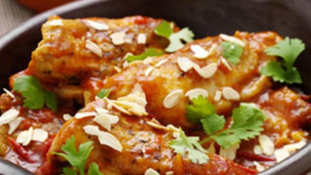 Moroccan chicken with saffron honey good food channel moroccan chicken with saffron honey forumfinder