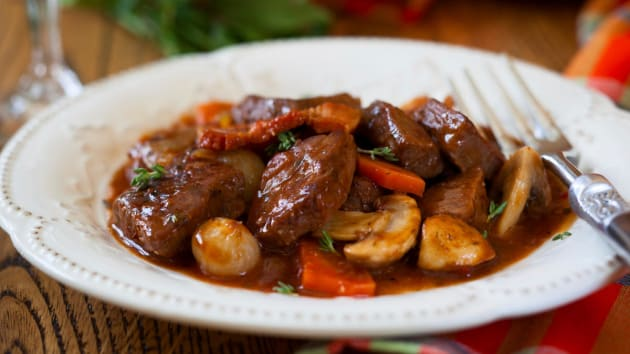 Slow Cooker Beef Bourguignon Good Food Channel