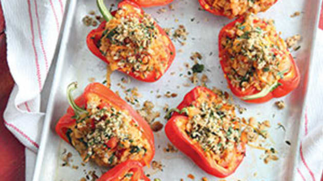 Lentil stuffed peppers good food channel lentil stuffed peppers forumfinder Images