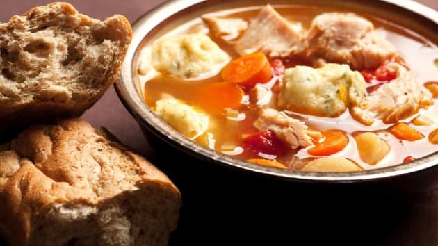 Chicken Casserole With Herby Dumplings Good Food Channel
