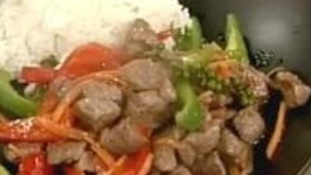Thai lamb cubes with sake and jasmine rice good food channel thai lamb cubes with sake and jasmine rice forumfinder Gallery