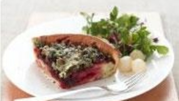 Dovedale beetroot layered yorkshire pudding good food channel dovedale beetroot layered yorkshire pudding forumfinder Choice Image