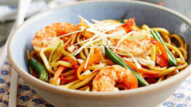 Chinese noodles with crispy prawns good food channel chinese noodles with crispy prawns forumfinder Image collections