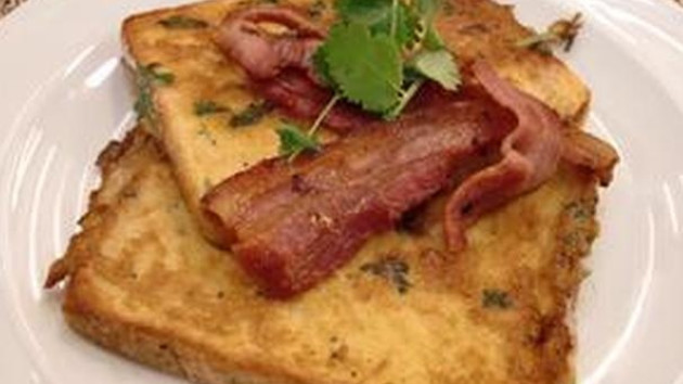 Chilli Eggy Bread With Crisp Bacon