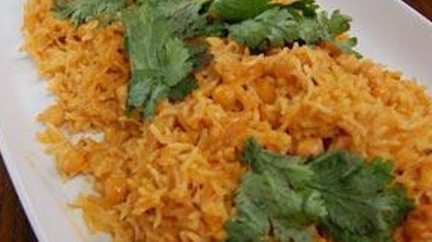 Indian style chickpea coconut and mango rice good food channel indian style chickpea coconut and mango rice forumfinder Image collections