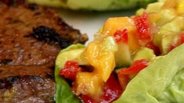 Chimichurri steak with mango salsa salad good food channel chimichurri steak with mango salsa salad forumfinder Images