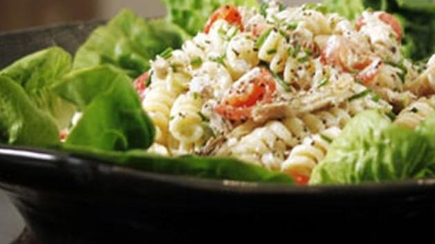 Smoked mackerel pasta salad with a lemon yogurt dressing good smoked mackerel pasta salad with a lemon yogurt dressing forumfinder Gallery