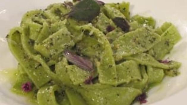 Basil pasta and basil pesto good food channel basil pasta and basil pesto forumfinder Images