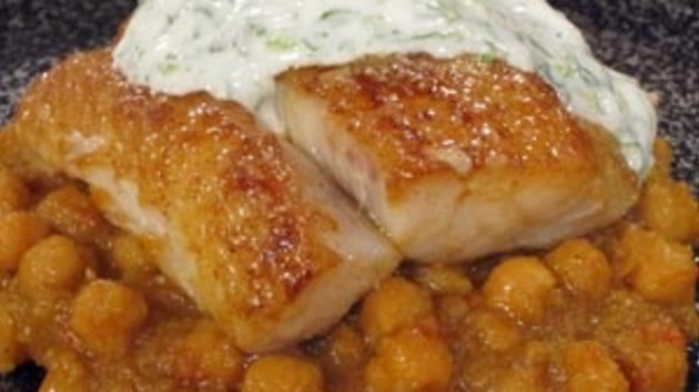 Spiced pollock with indian chickpea stew good food channel spiced pollock with indian chickpea stew forumfinder Gallery