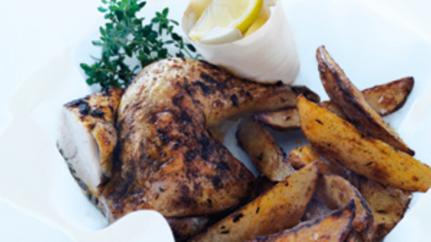 Speedy roast chicken and chips good food channel speedy roast chicken and chips forumfinder Images