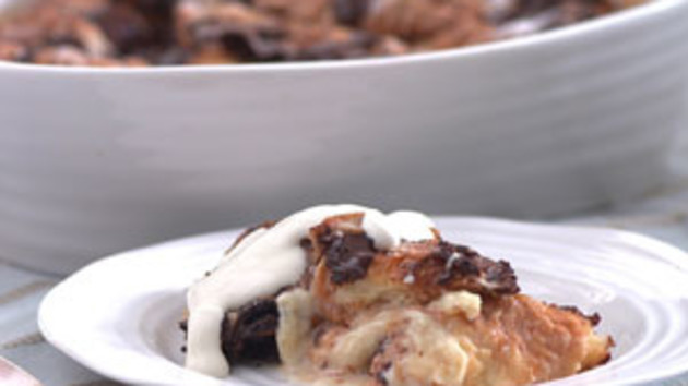 Chocolate croissant bread and butter pudding good food channel chocolate croissant bread and butter pudding forumfinder Images