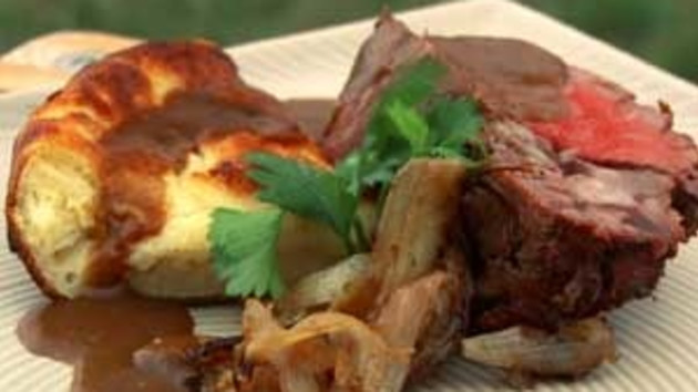 Roasted fillet of beef with yorkshire pudding good food channel roasted fillet of beef with yorkshire pudding forumfinder Choice Image