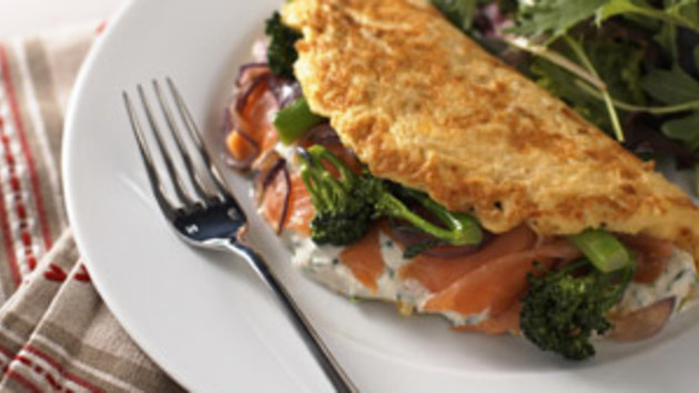 Image result for smoked salmon omelet