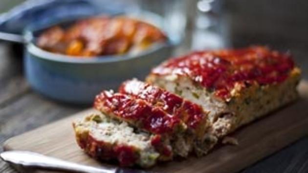 Turkey meatloaf with a spicy bean stew good food channel turkey meatloaf with a spicy bean stew forumfinder Gallery