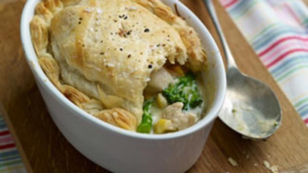 Tarragon chicken pot pies good food channel tarragon chicken pot pies forumfinder Gallery