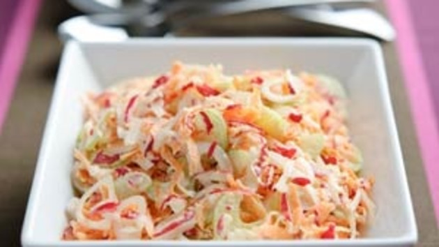 Celery and radish coleslaw good food channel celery and radish coleslaw forumfinder Choice Image