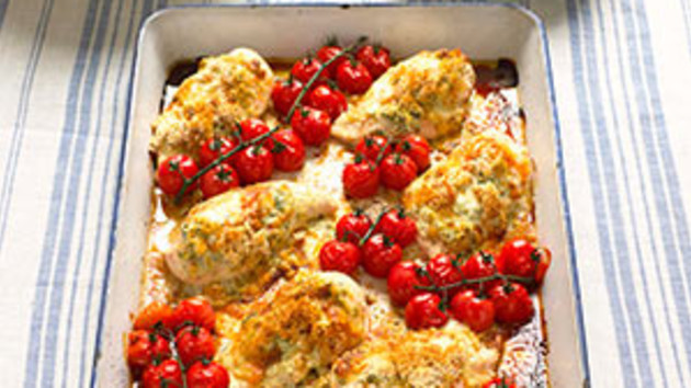 Chicken with pesto cheese and tomatoes good food channel chicken with pesto cheese and tomatoes forumfinder Images
