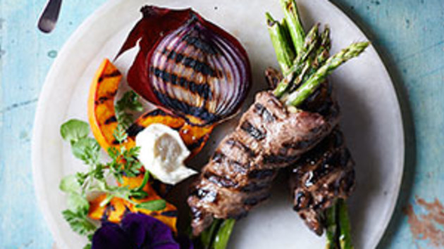 Beef And Asparagus Rolls