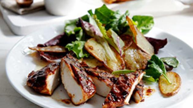 Bbq chicken salad good food channel bbq chicken salad forumfinder Choice Image