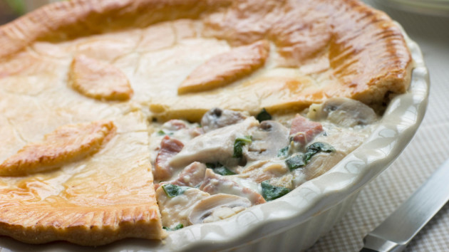Chicken pie with ham and peas good food channel chicken pie with ham and peas forumfinder Gallery
