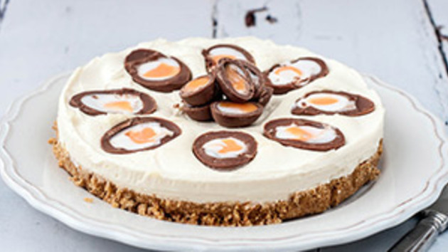 Creme egg cheesecake good food channel creme egg cheesecake forumfinder