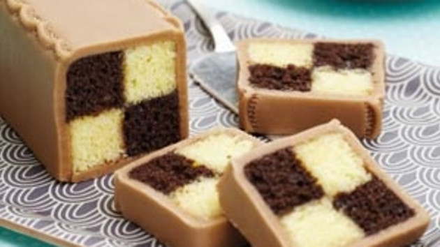 Chocolate battenberg cake good food channel chocolate battenberg cake forumfinder Image collections