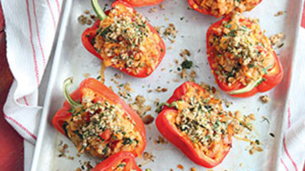 Lentil stuffed peppers good food channel lentil stuffed peppers forumfinder Image collections