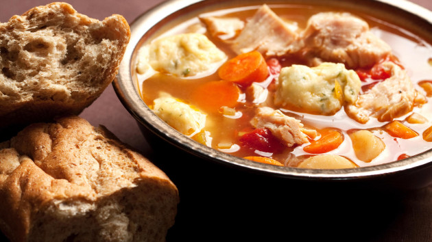Chicken casserole with herby dumplings good food channel chicken casserole with herby dumplings forumfinder Choice Image