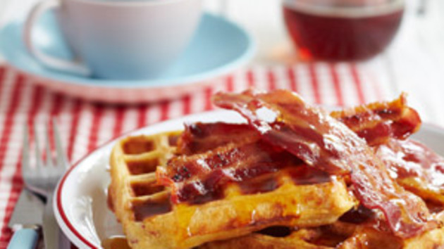 Bacon waffles good food channel bacon waffles forumfinder Images