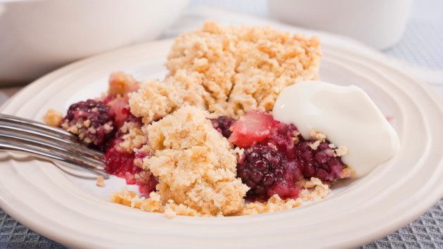 Blackberry and apple crumble good food channel blackberry and apple crumble forumfinder Images