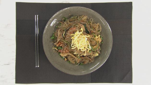 Japchae korean glass noodles john torodes korean food tour japchae korean glass noodles forumfinder Gallery
