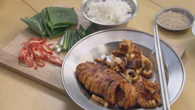 Bbq squid john torodes korean food tour recipes good food channel bbq squid forumfinder Gallery