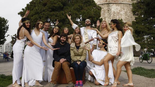 Rachel Riley And Joe Wilkinson In Greece