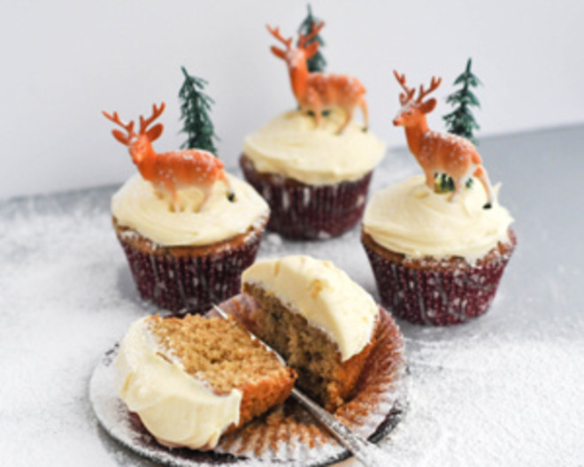 Christmas pudding good food channel mince pie cupcakes forumfinder Image collections