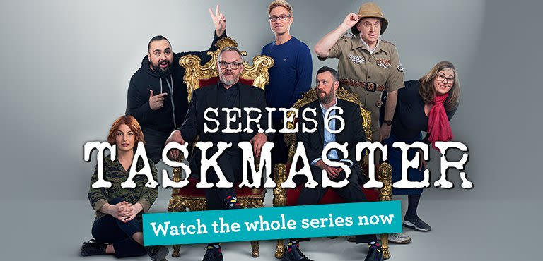 Watch the whole series of Taskmaster now with UKTV Play