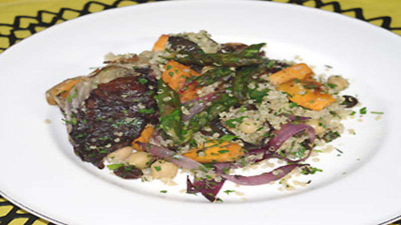 Roasted vegetables with quinoa and chickpeas good food channel forumfinder Image collections