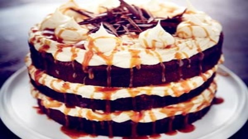 Salted Caramel Cake Recipe chocolate and salted caramel cake | good food channel