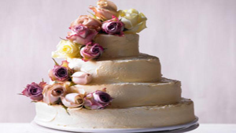 Tiered Vanilla Wedding Cake