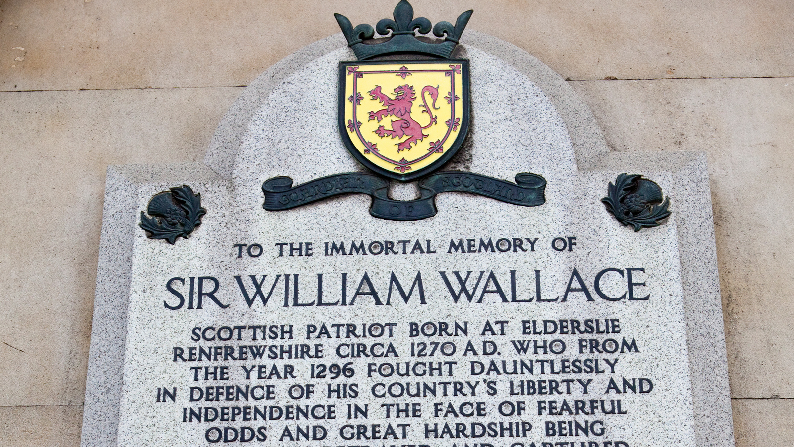 the story of william wallece In this lesson you will learn about william wallace, a scottish rebel who fought against the english after the lesson you will know more about.