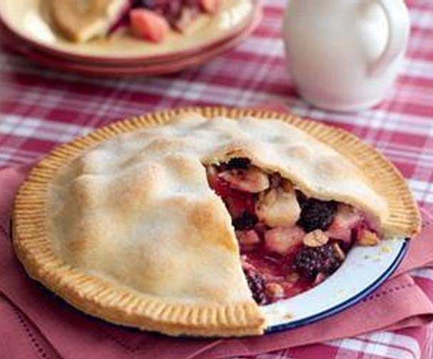 Apple and bramble pie | Good Food Channel