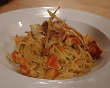 how to make lobster spaghetti