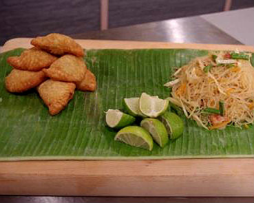 Empanaditas with pancit guisado | Good Food Channel