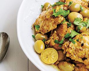 Chicken preserved lemon and olive tagine good food channel forumfinder Images