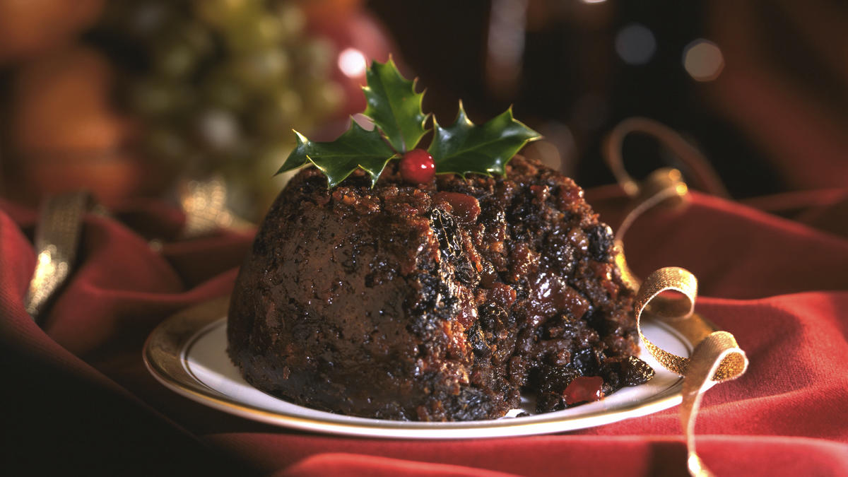 Nutters sticky christmas pudding good food channel for Xmas pudding