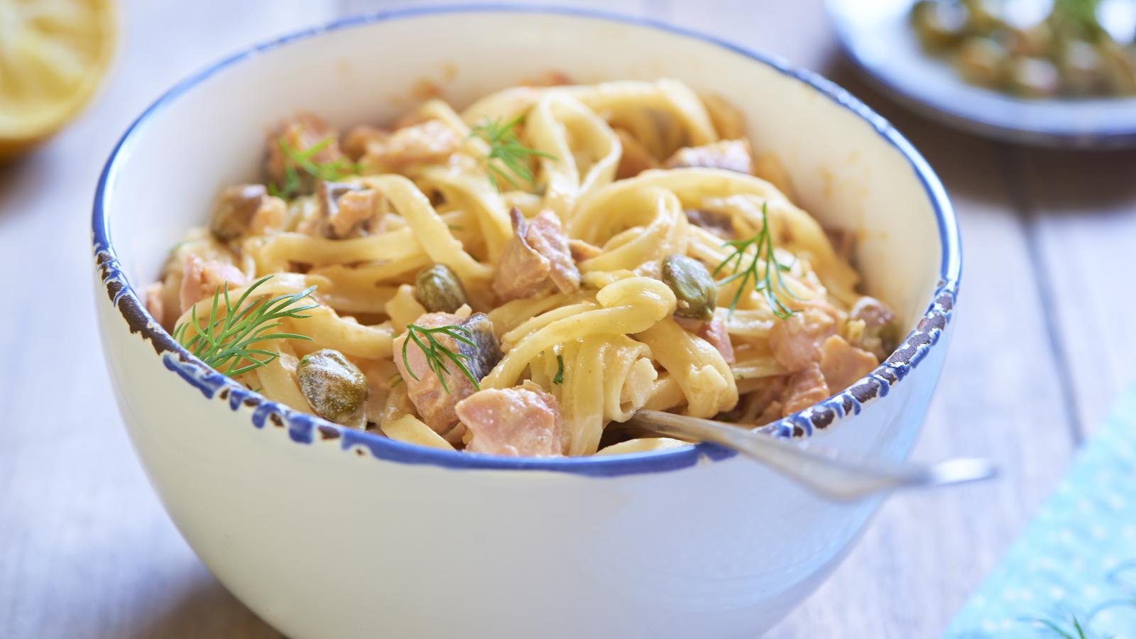 Smoked salmon tagliatelle good food channel forumfinder Images
