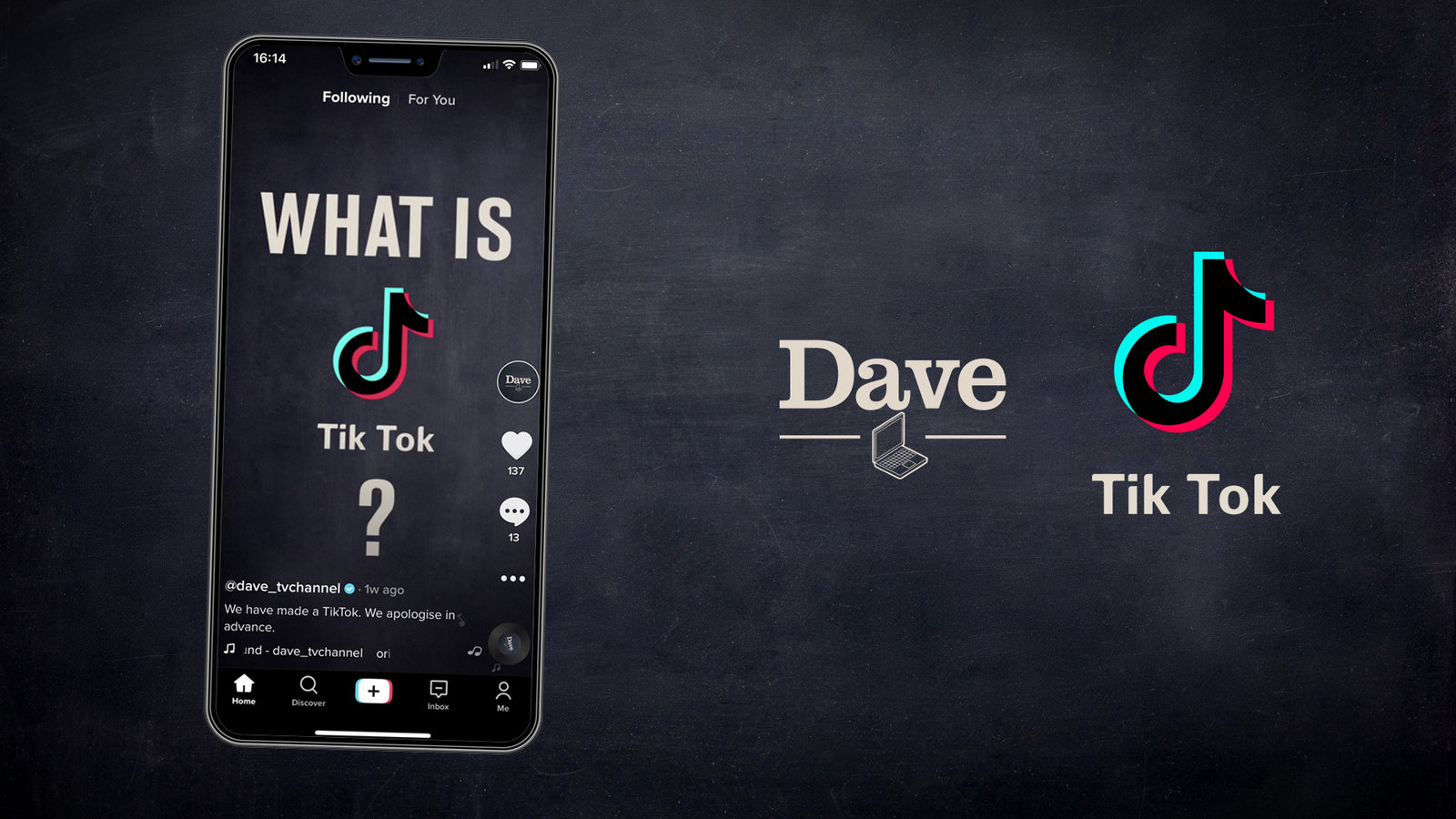 Dave Branches Out On Tiktok News Uktv Corporate Site