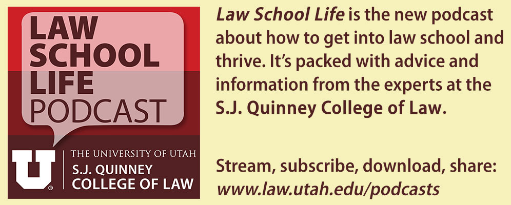 Law School Life podcast banner graphic.
