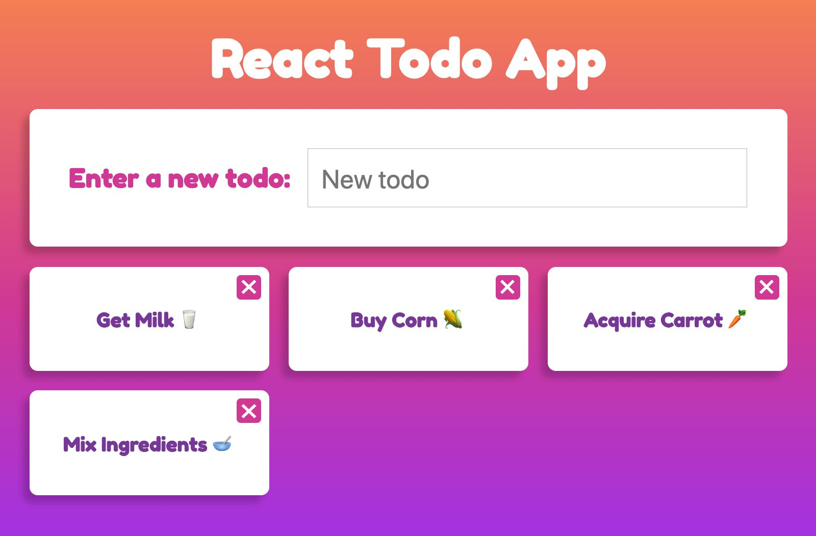 React To-Do App