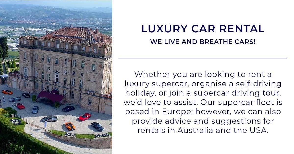 Luxury Supercar Rental Amazing Fleet Of Modern Supercars